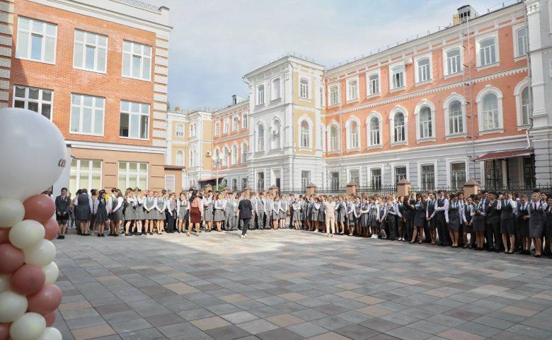 Вячеслав Володин поздравил с Днем знаний учащихся предуниверсария «Лицей-интернат 64»